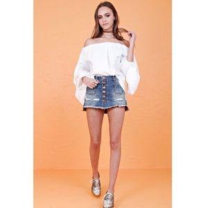 One Teaspoon Le Cat Mini Skirt Sz 27